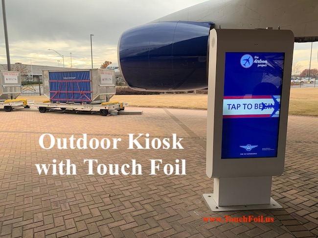 Delta Outdoor Kiosk with Touch Foil