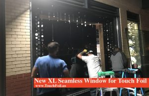 New XL Seamless Window for Touch Foil
