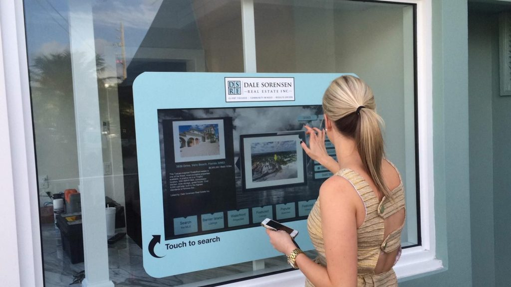 In-window touch display for real estate