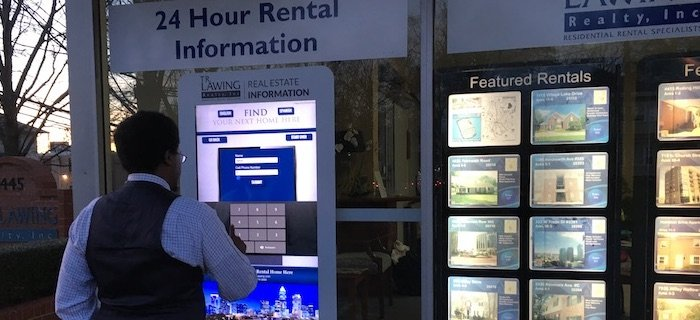 Real Estate Touch Screen Storefront Window Touch Foil