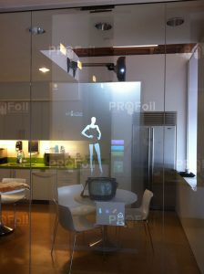 touch foil rear projection film