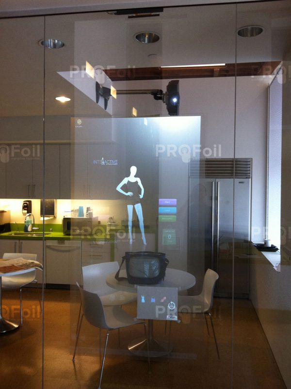 touch foil and transparent rear projection film